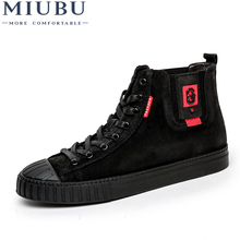 MIUBU Men's Winter Warm Shoes High Top Autumn Winter Shoes Men Genuine Leather Fashion Ankle Boot Motorcycle Casual Male Botas mycolen brand ankle snow boots men shoes genuine leather winter fashion cow motocycle casual boot male high top flat botas