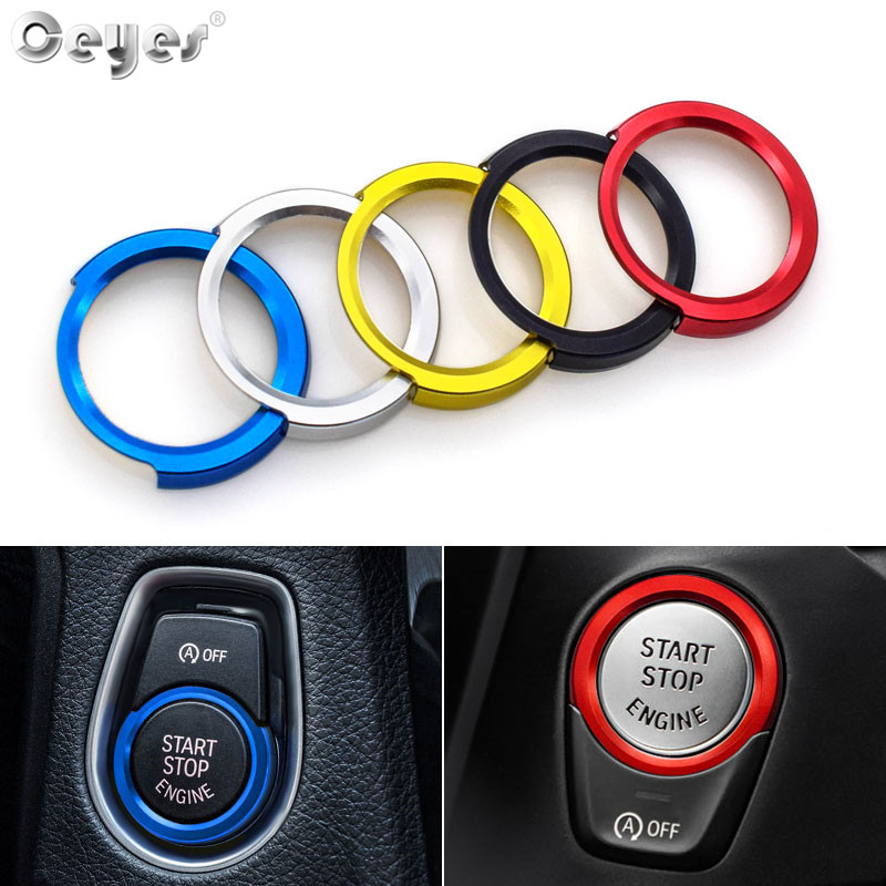 Ceyes Auto Engine Start Stop Decoration Ring Car Styling Case For Bmw 4 3 2 1 Series F30 F20 F32 X1 F48 F45 Interior Accessories