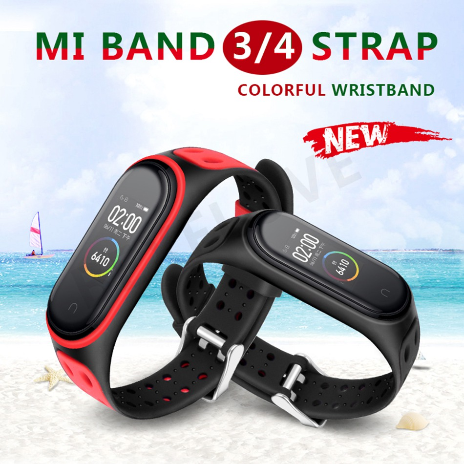Clear Mi Band 4 3 Strap Wrist Strap For Xiaomi Mi Band 3 4 Bracelet Silicone Miband 3 4 NFC Accessories Smart Mi band4 Correa(China)