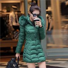 #2632 Winter coat women Fashion Thick Fur collar Slim Jaqueta feminina Womens winter jackets and coats Casaco feminino inverno