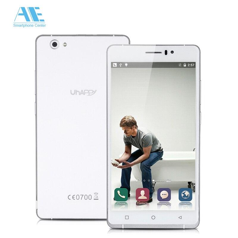 Original UHAPPY UP580 MT6580 Quad Core Android 5.0 Mobile Phone 1GB RAM 8GB ROM Smartphone 960x540 6.0 Inch 3G Unlock Cellphone