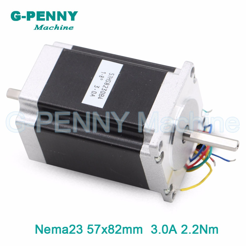 NEMA 23 CNC Stepper Motor 57x82mm 2.2N.m 6.35/8mm double shaft motor 3A 315Oz-in CNC Router Engraving milling machine 3D printer цена