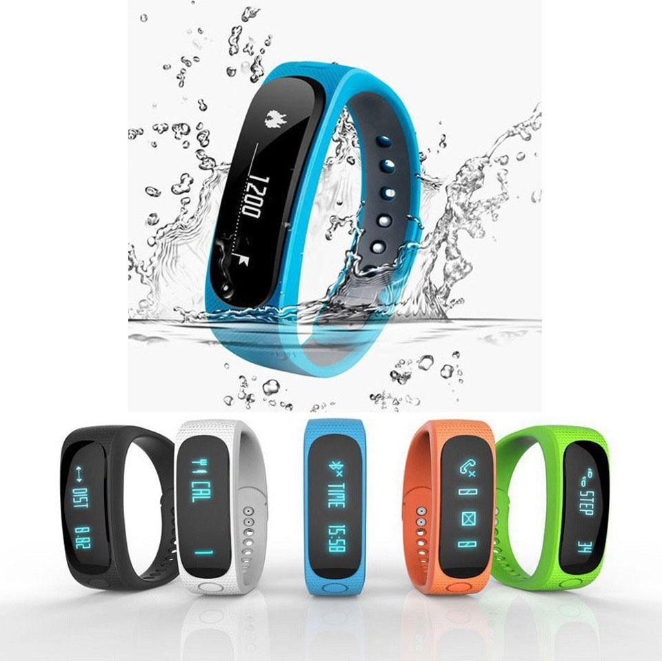 imágenes para Impermeable Smartband E02 rastreador de fitness Deporte Salud Pulsera Inteligente Bluetooth Pulsera para IOS Android flex pulsera Inteligente
