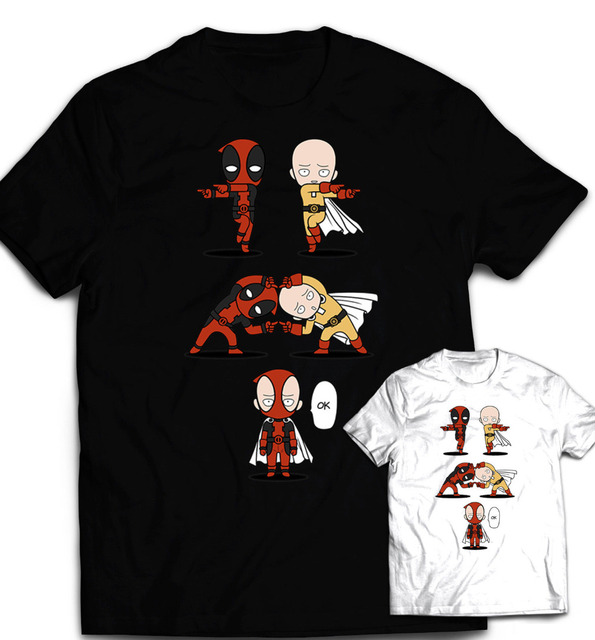 Deadpool T-Shirt Men's One Punch Man Shirt Dragon Ball z shirt DBZ Saitama Funny T Shirt Homme Camisetas Summer Tshirt Plus Size