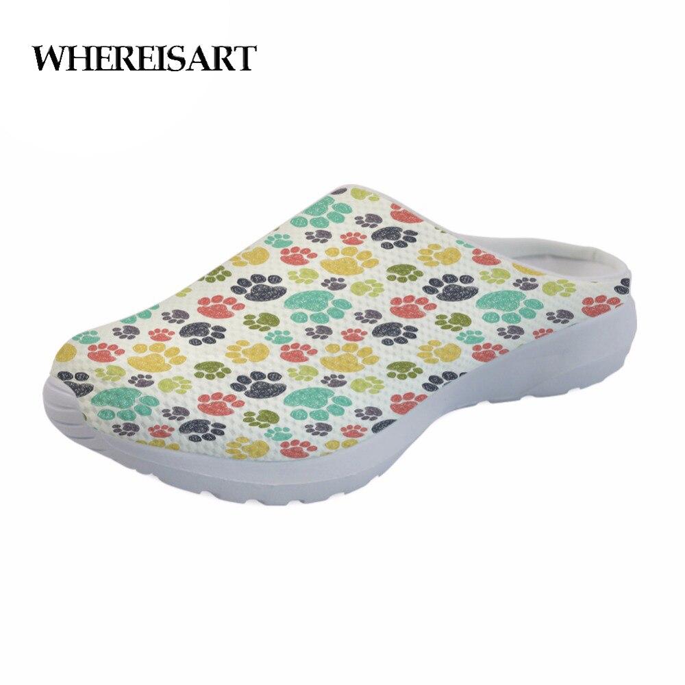 WHEREISART/модные летние пляжные сандалии; женские дышащие домашние тапочки с разноцветными лапами; женские повседневные сандалии на плоской подошве