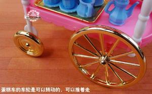 Image 5 - 무료 배송 소녀 놀이 세트 핑크 케이크 자동차 티 타임 1/6 인형 액세서리 인형 가구 바비 인형