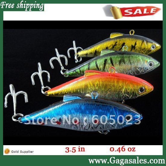VIB Fishing lures 9 cm fishing lures with hooks mix 4 color free shipping