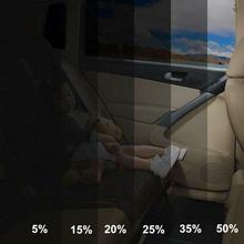 300x50 см VLT черная автомобильная пленка для дома, окна, здания, Тонирующая пленка, рулон бокового окна, солнечная УФ-защита, наклейка, скребок для штор