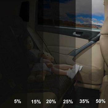 300x50cm VLT czarny Auto Car Home szyba okienna budynek folia barwiąca rolka boczna szyba słoneczna UV naklejka ochronna kurtyna skrobak tanie i dobre opinie 60 -80 10 -20 3inch Plastic Boczne Szyby Folie okienne Folie okienne i ochrona słoneczna 0 15kg Solar protection Black