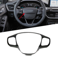 For Ford Focus Sedan/Hatchback 2019 2020 ABS Car Interior Steering Wheel Cover Trims Stickers Car Styling Accessories Car Parts