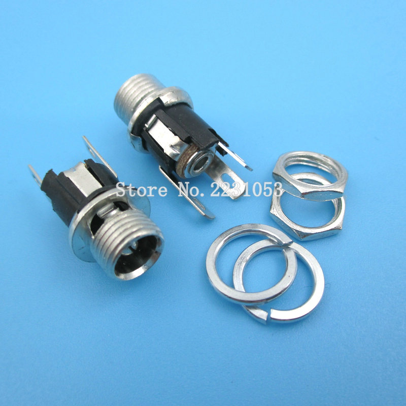 10PCS/LOT DC025M DC-025 DC Connector 5.5*2.5MM DC Power Socket High Current Metal Charge Female