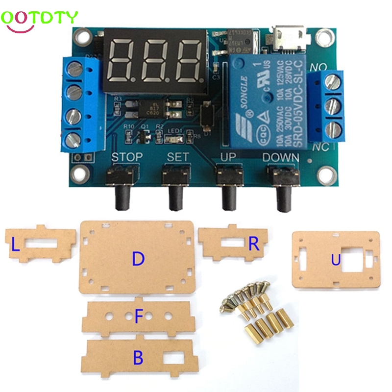 6-30V 1-Channel Relay Module Delay Cycle Timing On/Off Trigger Circuit Switch  828 Promotion 12v timing delay relay module cycle timer digital led dual display 0 999 hours