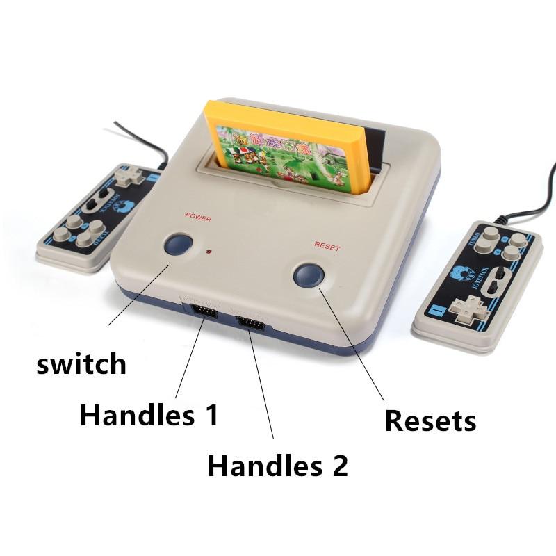 Hjemme videospilkonsoller Kid D30 dobbelt håndtag 8 FC nostalgiske spil hjemmevideokort Få 400 et dobbelt spilkort Bærbart