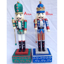 HT074 Action Toy 48CM Music Box Nutcracker walnut soldiers crafts birthday gift Christmas ornaments