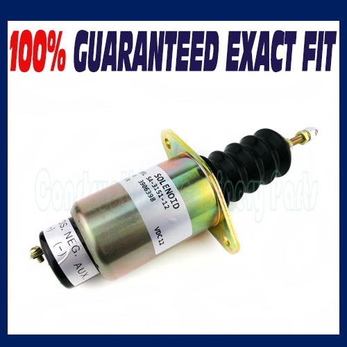 For Cummins Engine Shutdown shut off solenoid 6cta 8.3L 3906398 (12V, 1 Terminal) fuel shutdown solenoid valve shut off stop f1hz 9n392 a for cummins vw ford 12v