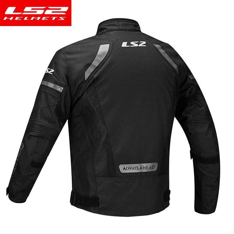 LS2 hommes Moto veste Moto pantalon ensemble printemps hiver respirant veste chaude Moto pantalon costume vêtements de protection - 3