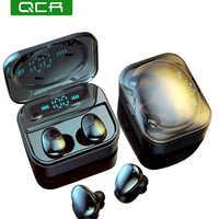 QCR TWS 5.0 Bluetooth écouteur IP7 casque sans fil 6D stéréo HiFi sans fil Earbus casque de jeu avec Microphone 2200mAh