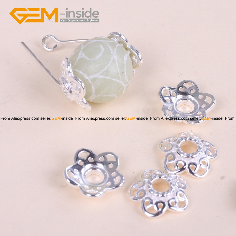 Tibetan Silver Flower Spacer 11mm Craft Beads Caps Component Jewelry Making Diy Bracelet Necklace 20 Pcs Free Shipping