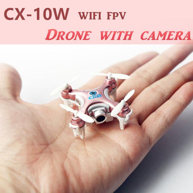 CX-10W Mini Drone Com Câmera HD WI-FI Helicóptero FPV RC Quadcopter Brinquedos de Controle Remoto Aviões de 0.3MP 2.4G Transmissão Em Tempo Real