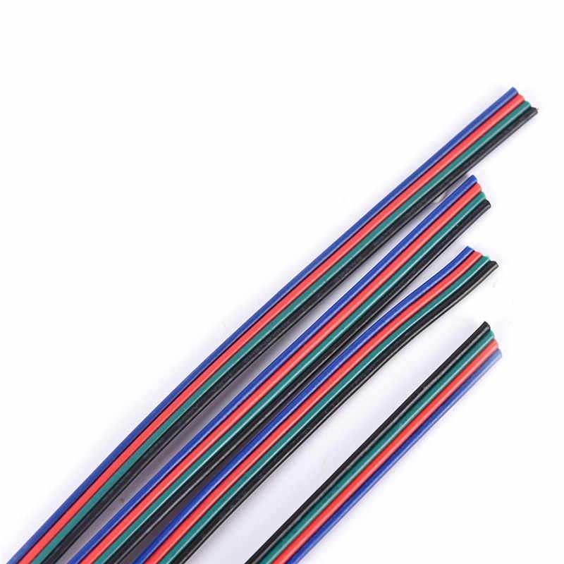 1m 5m 10m 4 PIN RGB Led cable de alambre de LED RGB cable de extensión de cable para RGB 3528, 5050, 5630, 7020 LED tira de luz