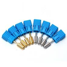 2.35mm 3/32'' Barrel Smooth Top Safety Nail Art File Drill Bit Manicure Electric Carbide Nail Drill Bits