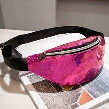 b5f79744f4 Women Fanny Pack Steam Punk Bum Bag Reflective Laser Shiny Shoulder Bag  Belt Bags Waist Pack
