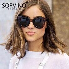 2df69cae9 SORVINO 2018 Retro Pequeno Gato Olho Óculos De Sol Das Mulheres Marca de  Luxo Designer 90 s Tartaruga Oval Cateye Óculos de Sol .