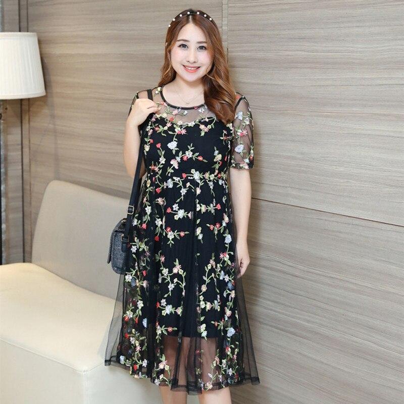 Вышивка на гипюровом платье