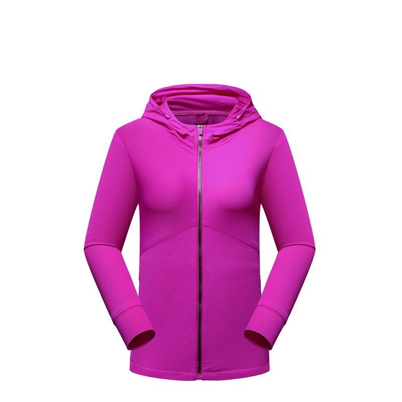 Lisyee Spring Women Jacket Flexible Breathable Clothes Solider Color Hodded Coat Windproof Outdoors Sports Hunting Windbreaker