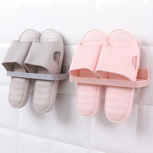 Multifunctional Suction Cup Folding Shoe Rack Durable Wall Hanging Slippers High Heels Home Storage save Space 22.5*6*4.5cm