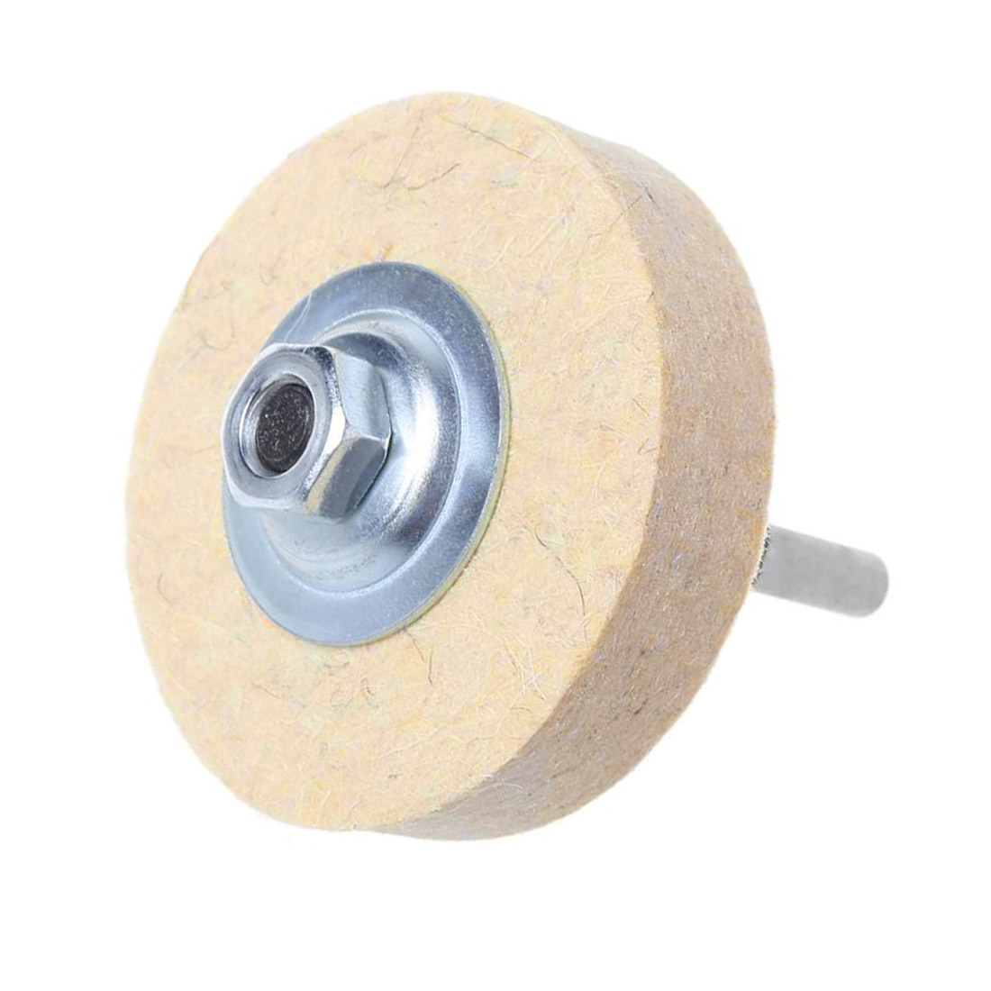100pcs Wool Felt Polishing Buffing Round Wheel Tool 2 Shank For Rotary FP