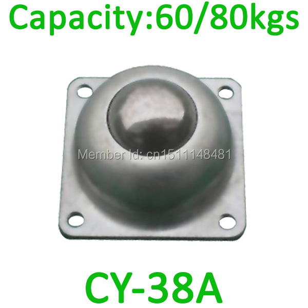 CY 38A 1 2 Ball 60 80kgs Loading Capacity Conveyor Roller BearingCY38A 4 Screw Mounting Carbon Steel Transfer Unit