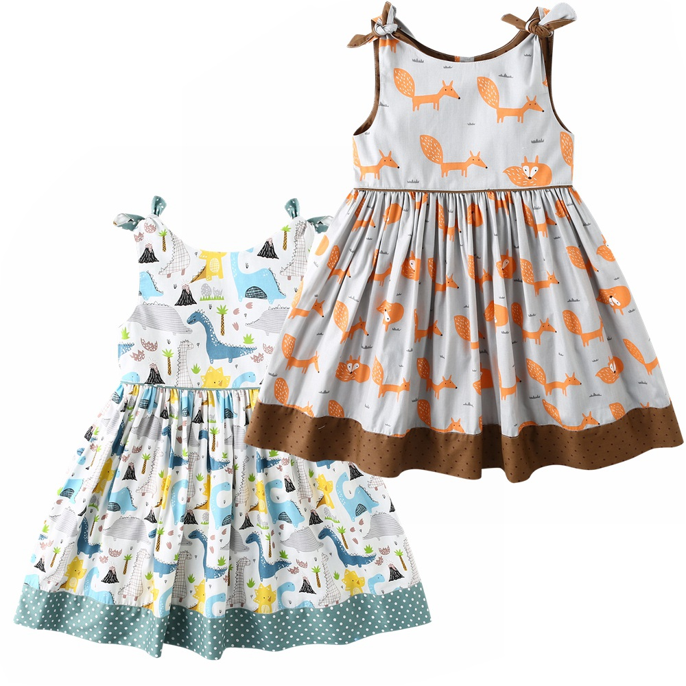 Dream Cradle,Baby Girls Cartoon Dress,Baby Girls Fox Dress ,Baby Girls Dinosaur Clothes,Kids Dragon Outfit,Baby Clothes (3)