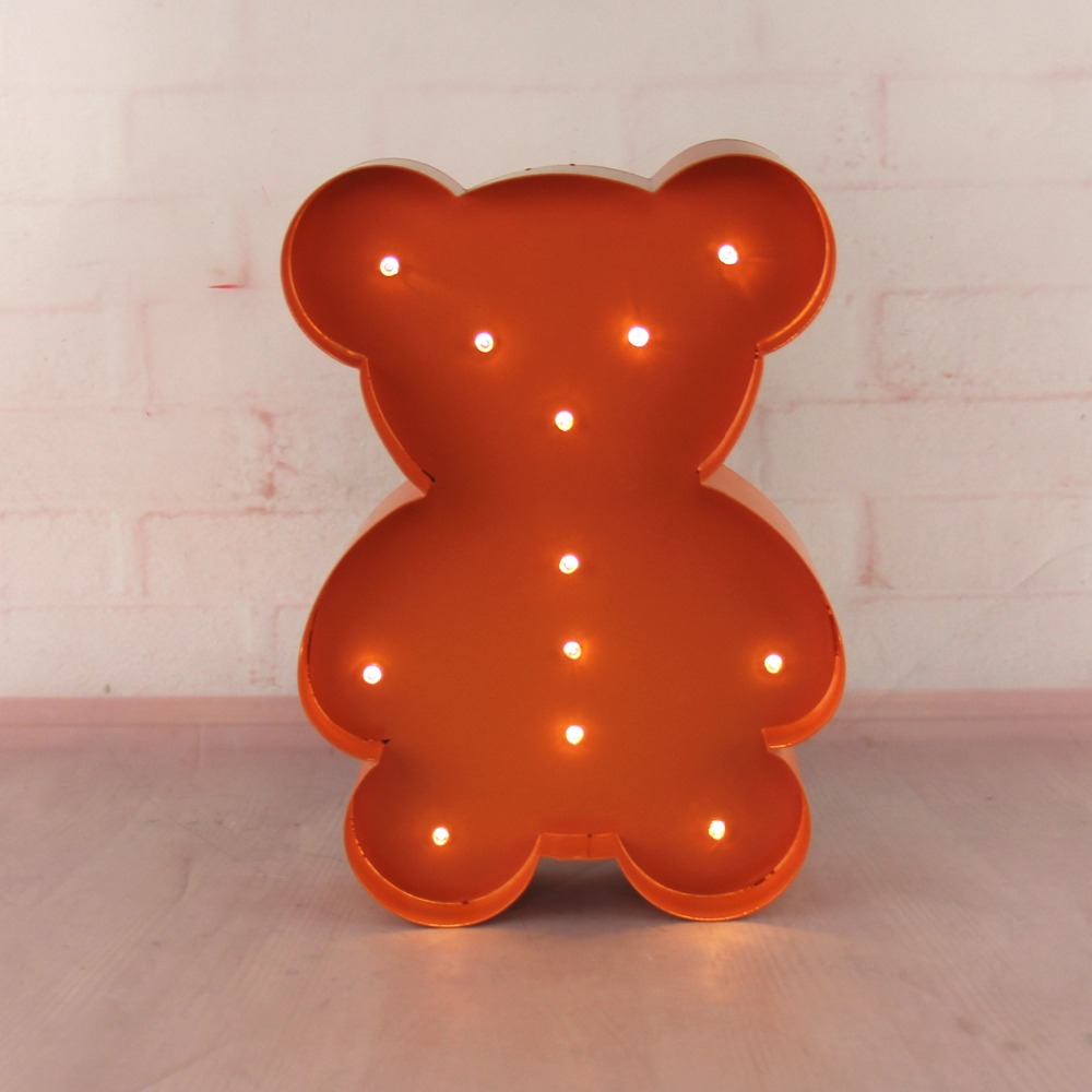 12inch metal little bear light LED Marquee Sign LIGHT UP night light child's room Deration