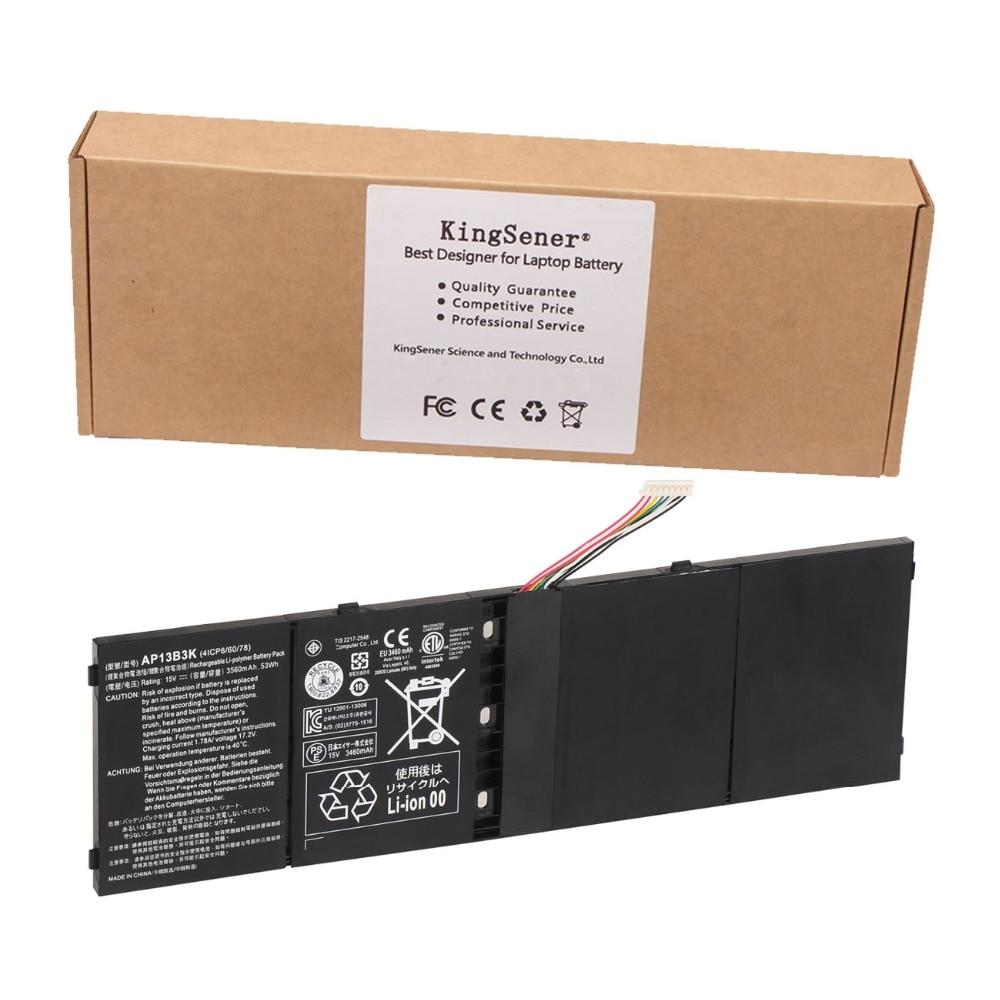Original New AP13B3K Laptop Battery For Acer Aspire R7 R7-571 R7-572 V5-572P V5-573 V7-482P V5-573 AP13B3K Free 2 Years Warranty new 15 6 for acer aspire v5 571 v5 571p v5 571pg v5 531p touch screen digitizer glass replacement frame