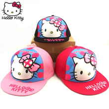 Hello Kitty 2019 Baby Summer Hats Branded Baseball Cap Cartoon Cat Cute Child Caps Outdoor Girls Sun Visor Hat