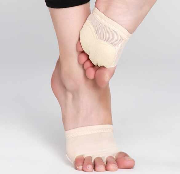 חמישה חורים חצי בלעדי בטן ריקוד נעלי רגל חוטיני רפידות Tootnote קראטה יוגה נעלי בנות לירי ריקוד נעלי סנדל יחף נעליים