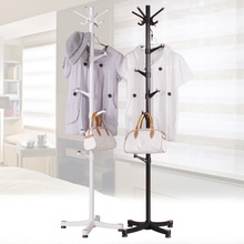 The bedroom floor coat hanger assembly simple coat rack lazy living room vertical clothes rack