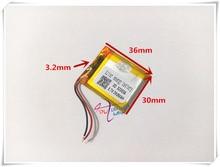 MP3/MP4 / mobile phone battery 323036P 3.7V 290mAh lithium polymer batteries genuine