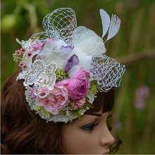Aliexpress.com : Buy Romantic Flowers and Pearls Garland Hair ...