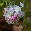Frete grátis Romantic New Recomendar Pérola Flor E Borboleta Acessórios Do Cabelo Do Casamento Chapéus De Noiva
