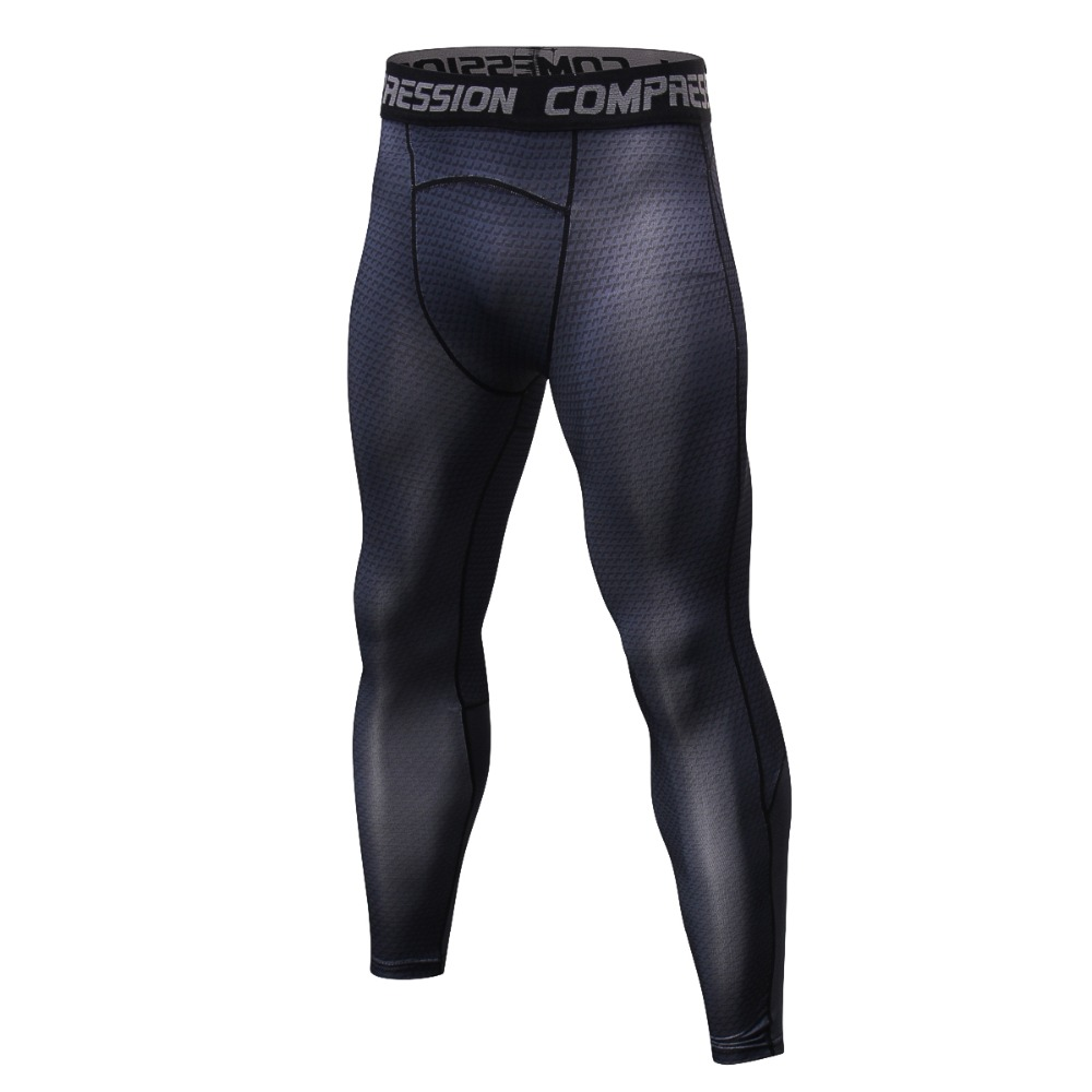 Brand 2018 New Men Fitness Joggers Leggings Tights Elastic Patchwork Compression Tights Quick Dry Breathable Bodybuilding Pants