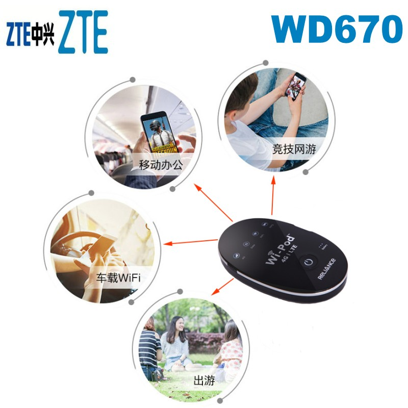 US $3500 0 |Lot of 100pcs ZTE 150Mbps WD670 WI POD Portable 4G LTE Pocket  WiFi Router-in 3G/4G Routers from Computer & Office on Aliexpress com |