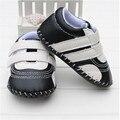 2016 de la moda suave y cómodo del bebé de LA PU zapatos de goma inferiores ocasionales al aire libre primeros zapatos del caminante 3 colores