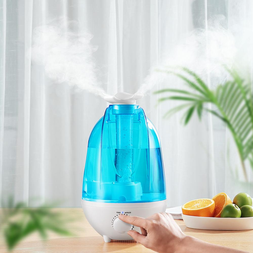 3L/4L Large Capacity AirHumidifier Home Ultrasonic Humidifier Aroma Diffuser Mist Maker Air Purifier Humidificador LED Lamp