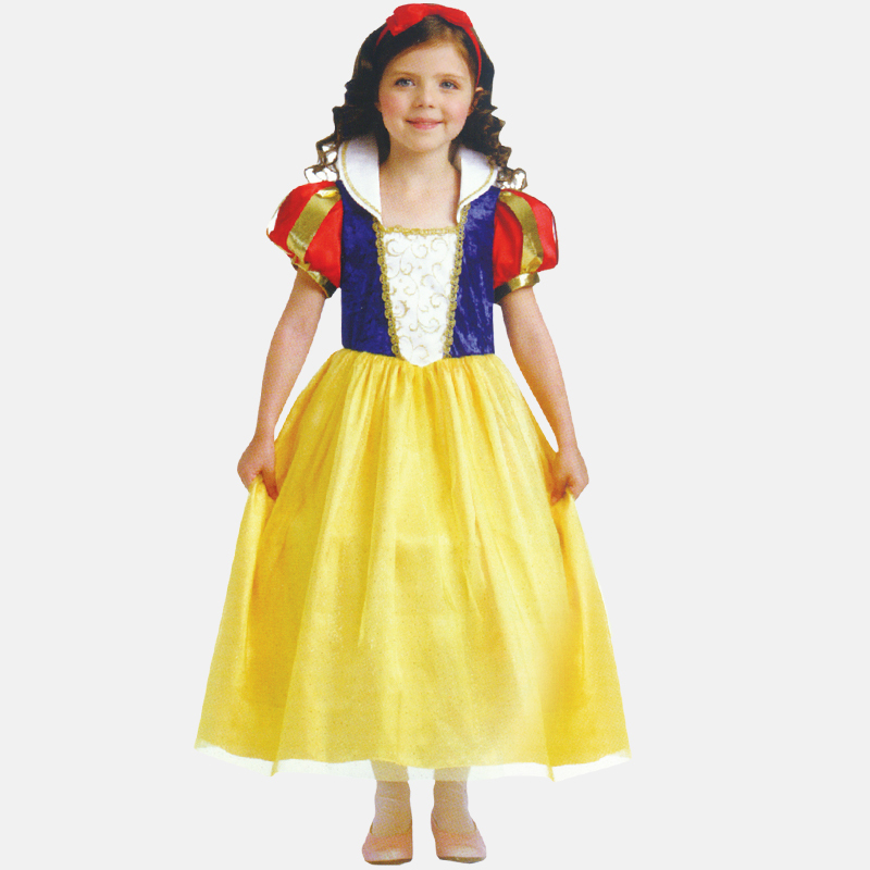 Free shipping Halloween Snow White skirt dress veil dress children performing Cinderella costumes 6249