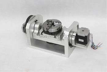 Cabezal divisor CNC, eje A, eje de rotación, cuarto eje, quinto eje (con un  mandril)