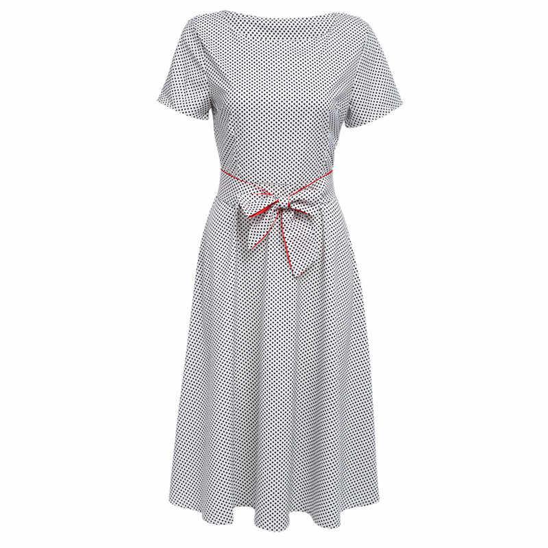 Винтажные элегантные вечерние открытые сарафаны в горошек 2018 женское летнее платье сексуальное модное платье до середины икры