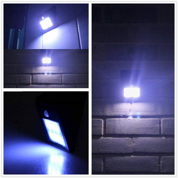 10X New Arrival 6 LED Solar LED Light Outdoor Motion Sensor Warm White Wall Garden Light Landscape Yard Lamp
