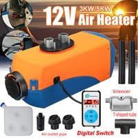 12 В в 3 кВт/5 кВт ELS Воздушный стояночный обогреватель цифровой дисплей дизельный автомобиль Воздушный стояночный обогреватель с бесплатным